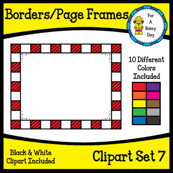 Borders/Page Frames Clipart Set 7 (sized 8.5 x 11)