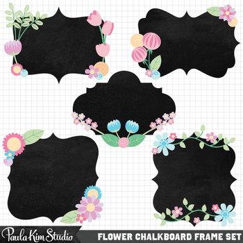 Borders - Pastel Floral Chalkboard