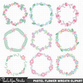 Borders - Pastel Floral Wreaths