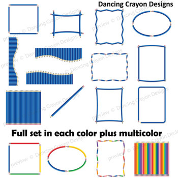 Pencil Clip Art -  Borders, Frames, and Backgrounds