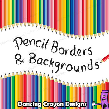 Pencil Clip Art - Borders, Frames, and Backgrounds by Dancing Crayon ...