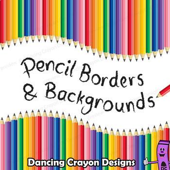 Borders: Pencil Borders, Pencil Frames, Pencil Background