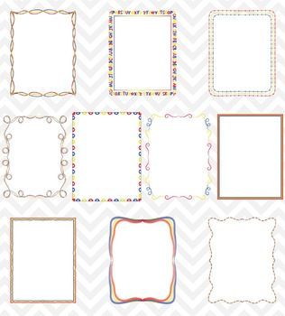 Borders - Primary Colors by Sonya DeHart Set 3 Clipart