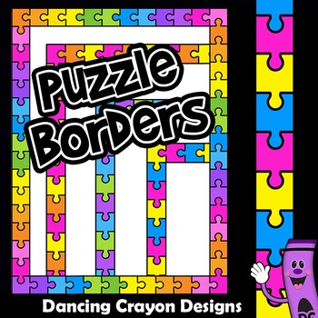 Borders and Frames Clip Art | Puzzle Design