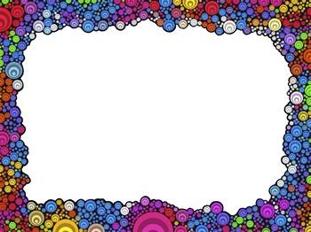 Borders: Rainbow and paint splats