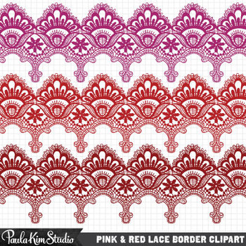 Borders - Red Lace