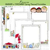 Borders SPRING BORDERS & STATIONERY (Karen's Kids Printables)