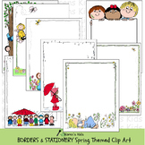 Borders SPRING THEMES BORDERS & STATIONERY (Karen's Kids Clip Art)
