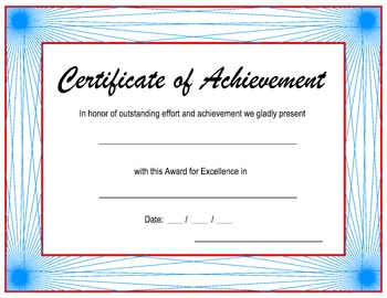 Borders, Achievement Award Certificates - Fun and Practical!