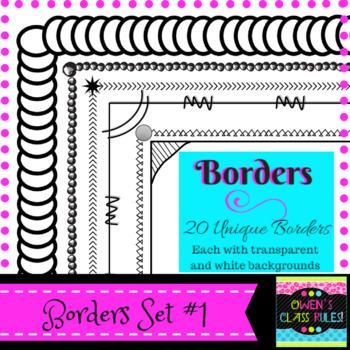 Borders:  Set #1