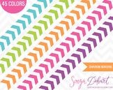 Borders - Set of 45 Chevron Border Clipart