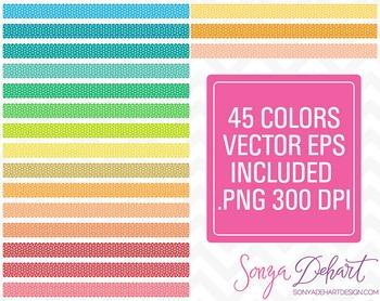 Borders - Set of 45 Polka Dot Ribbons