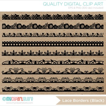 Borders - Shabby Chic Floral Lace (3 colors)
