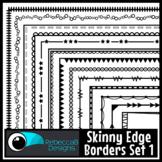 Skinny Borders Clip Art Set 1