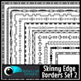 Skinny Borders Clip Art Set 2