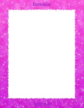 Clip Art Borders and Frames with Sparkly Effect