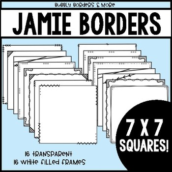 Borders- Square Frames 7 x 7 INTRO PRICE