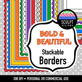 Borders ~ Stackable ~ Bold Colors