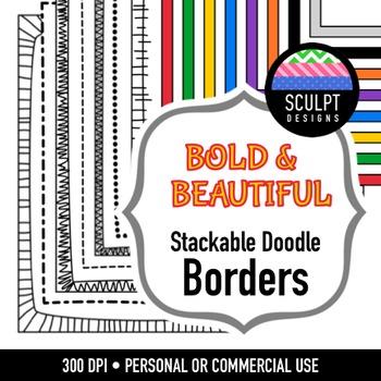 Borders ~ Stackable Doodles