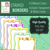 Clipart: Colorful Striped Borders - FREEBIE