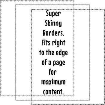 Super Skinny Borders Clip Art Set 2