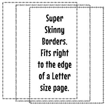 Super Skinny Borders Clip Art Set 1