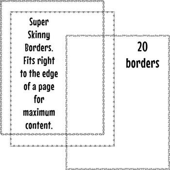 Super Skinny Borders Clip Art Set 3