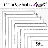 Borders ~ Thin Page Frame Borders ~ Set One