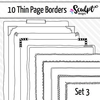 Borders ~ Thin Page Frame Borders ~ Set Three