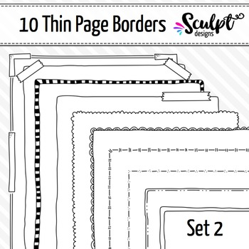 Borders ~ Thin Page Frame Borders ~ Set Two