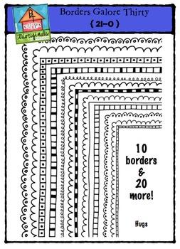 Borders Thirty Galore {P4 Clips Trioriginals Digital Clip Art}