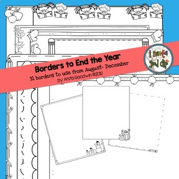 Borders Bundle Through the Year Black and White