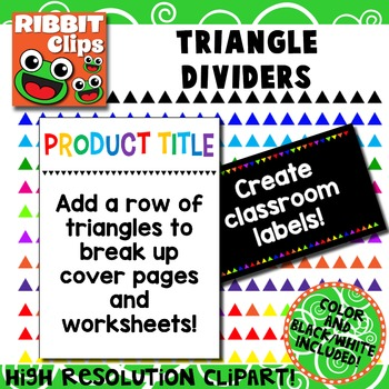 Borders- Triangles Row Clipart
