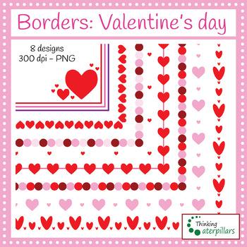 Borders: Valentine's day (clip art)