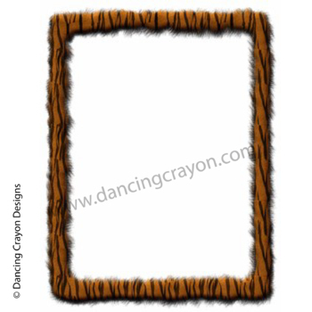 Borders and Frames: Animal Print Fur Effect Borders and Frames Clip Art Set