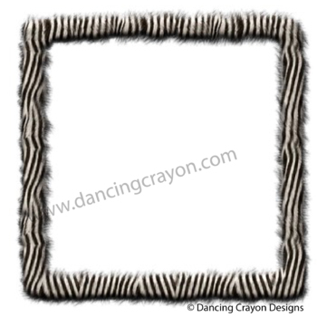 Borders and Frames: Animal Print Fur Effect Borders and Frames Clip ...