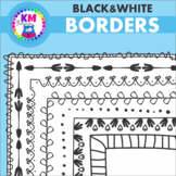 Borders and Frames Black and White Set 2 Clipart