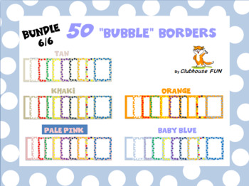 Borders and Frames: Bubbles (Bundle 6 of 6)