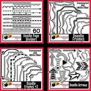 Borders and Frames Clip Art Bundle