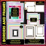 CIRCLE Borders,  Frames and Labels Clip Art