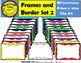 Borders and Frames Clipart Set 2  Four different sizes MACSTAR Clips Partida