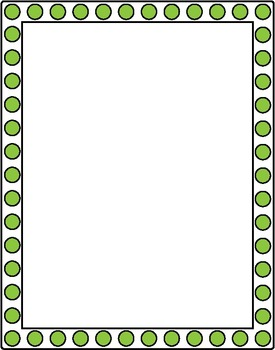"""Borders and Frames Collection 8 - 12 Colored Frames  - 8x10.5"""""""