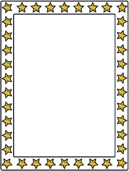 """Borders and Frames Collection 9 - 12 Colored Frames  - 8x10.5"""""""