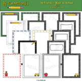 Borders and Frames Collection, Back to School - High Quality Vector Graphics