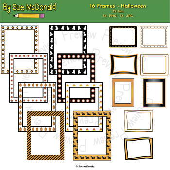 Borders and Frames Collection, Halloween - High Quality Vector Graphics