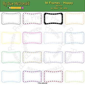 Borders and Frames Collection, Happy - High Quality Vector Graphics
