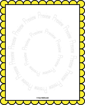 Borders and Frames Collection, Scalloped - High Quality Vector Graphics
