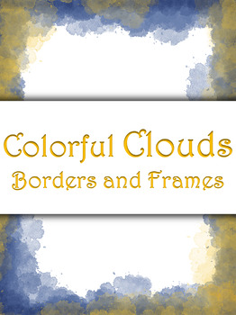 Borders and Frames, Colorful Clouds - 20 Borders/Frames