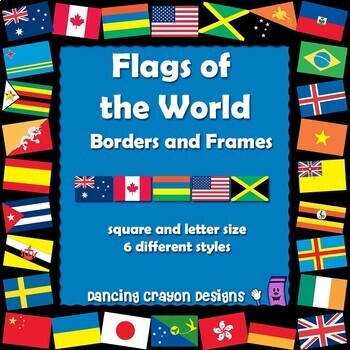 Borders and Frames: Flags of the World Borders and Frames