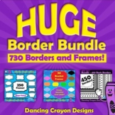 HUGE Border Bundle | Borders and Frames Clip Art